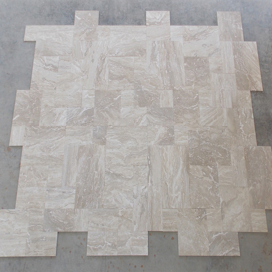 Navona Travertine French Pattern Set