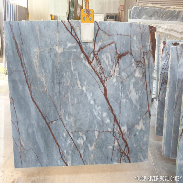 Turkish Deep River Grey Marble Slabs