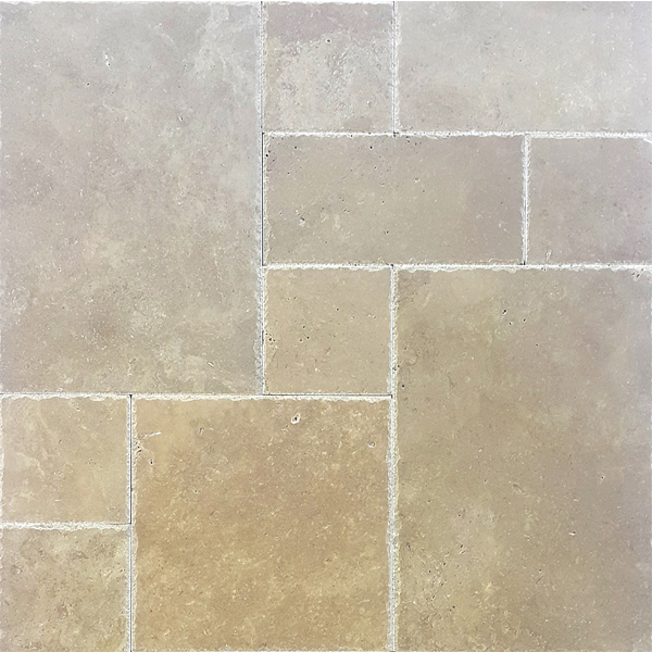 Turkish Noche Travertine French Pattern Set Paver
