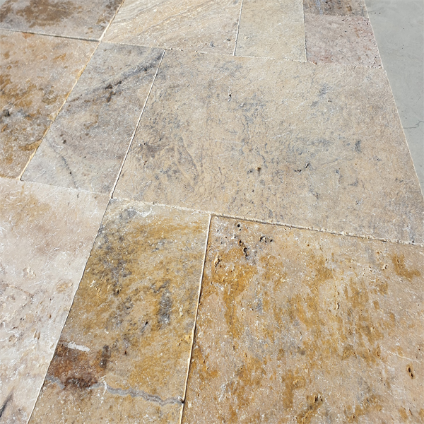 Turkish Scabas Travertine French Pattern Set