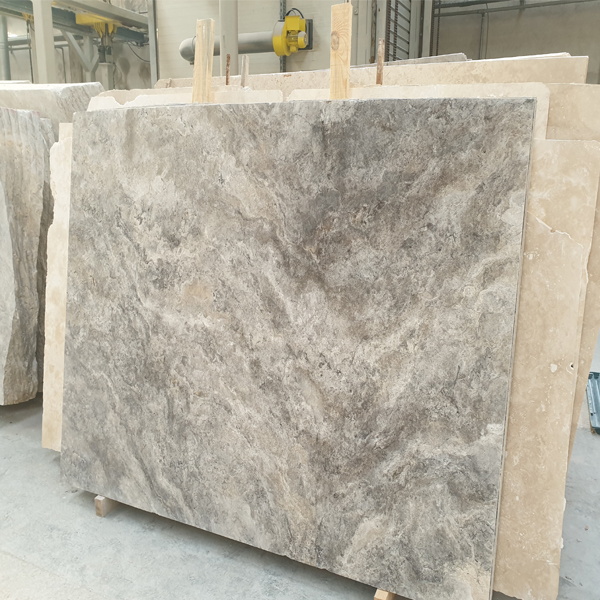 Silver Travertine Slab Cross Cut