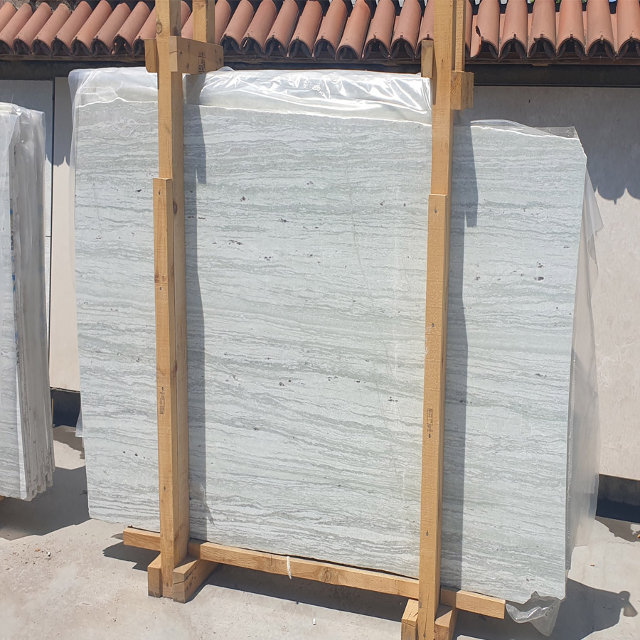 High Quality Light Green Vein Cut Marble Slabs