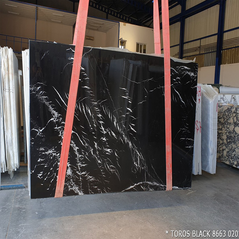 Best Sale Nero Marquina Toros Black Marble Slabs