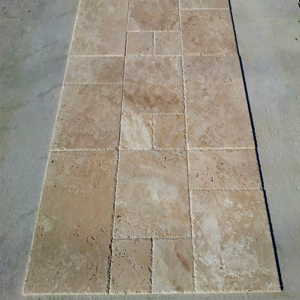 Walnut Travertine French Pattern Set