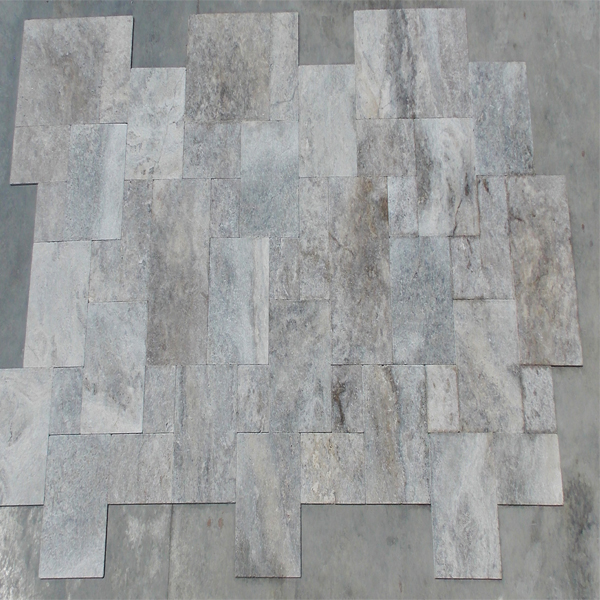 Turkish Silver Travertine Tumbled Tile