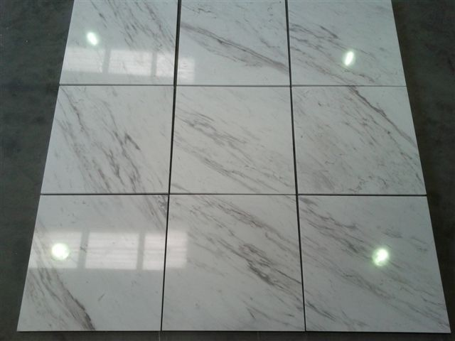 Volakas White Tiles Polished Marble Tiles