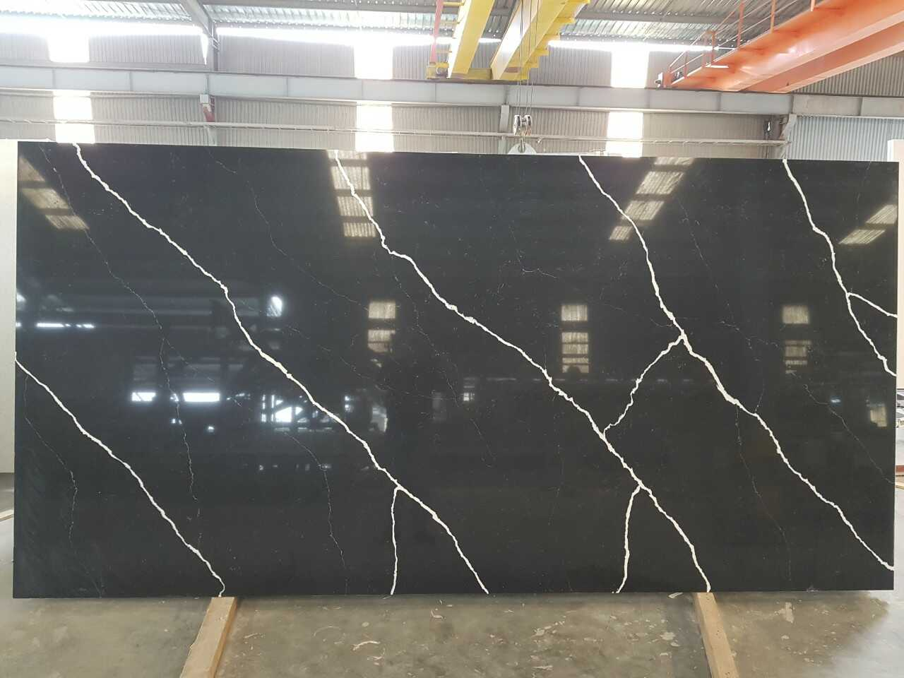 Black Marquina VQ8240 -Vietnam Artificial Quartz