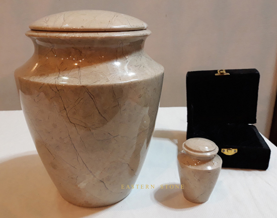 ONYX  MARBLE STONE ASH URN  CREMATION URN  FUNERAL