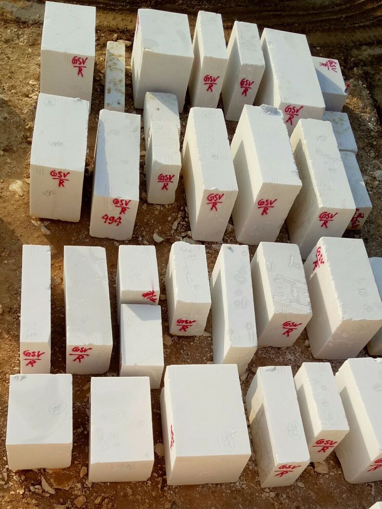 Snow White Marble Block