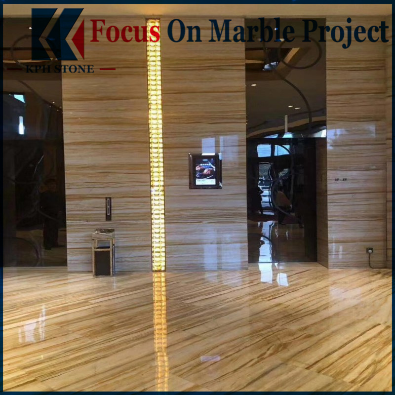 Van Gogh Golden Marble Floor Tiles for hotel decoration