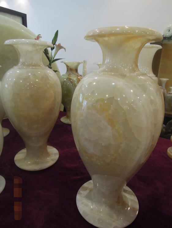 Vase White Polished Onyx Vase
