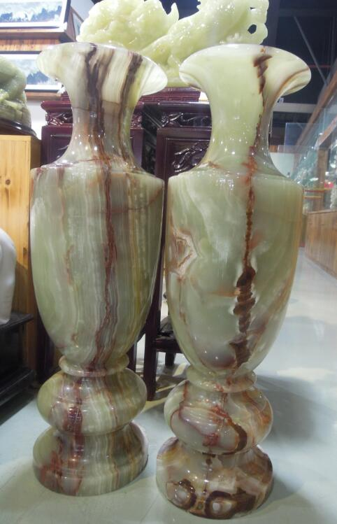 Green Polished Onyx Vase