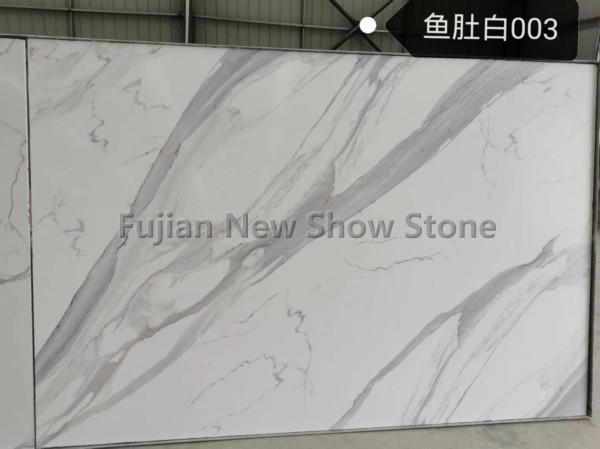 Artificial marble of calacatta white