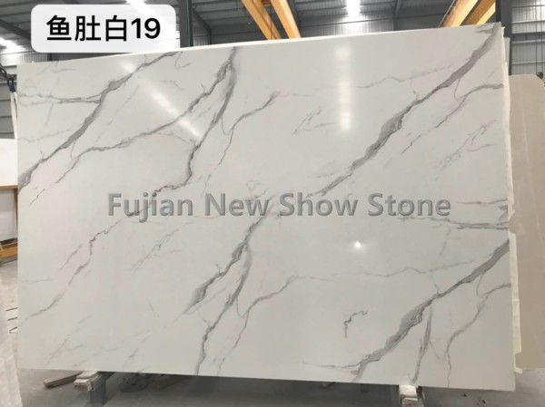 Artificial White Grey marble