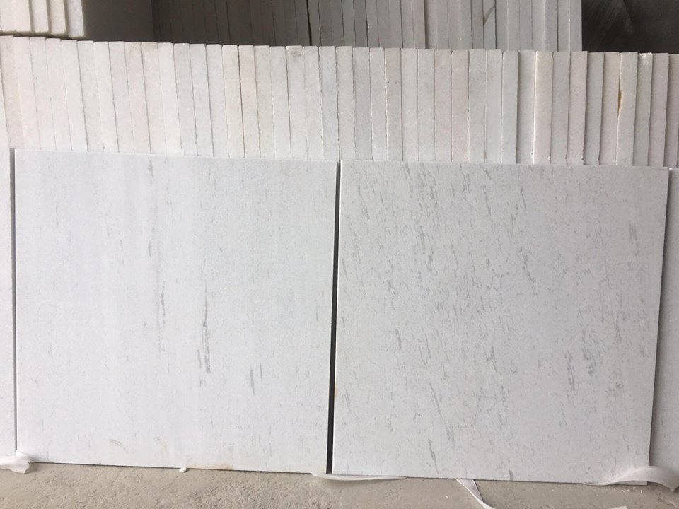 Vietnam Milky White Marble with Grey Vein