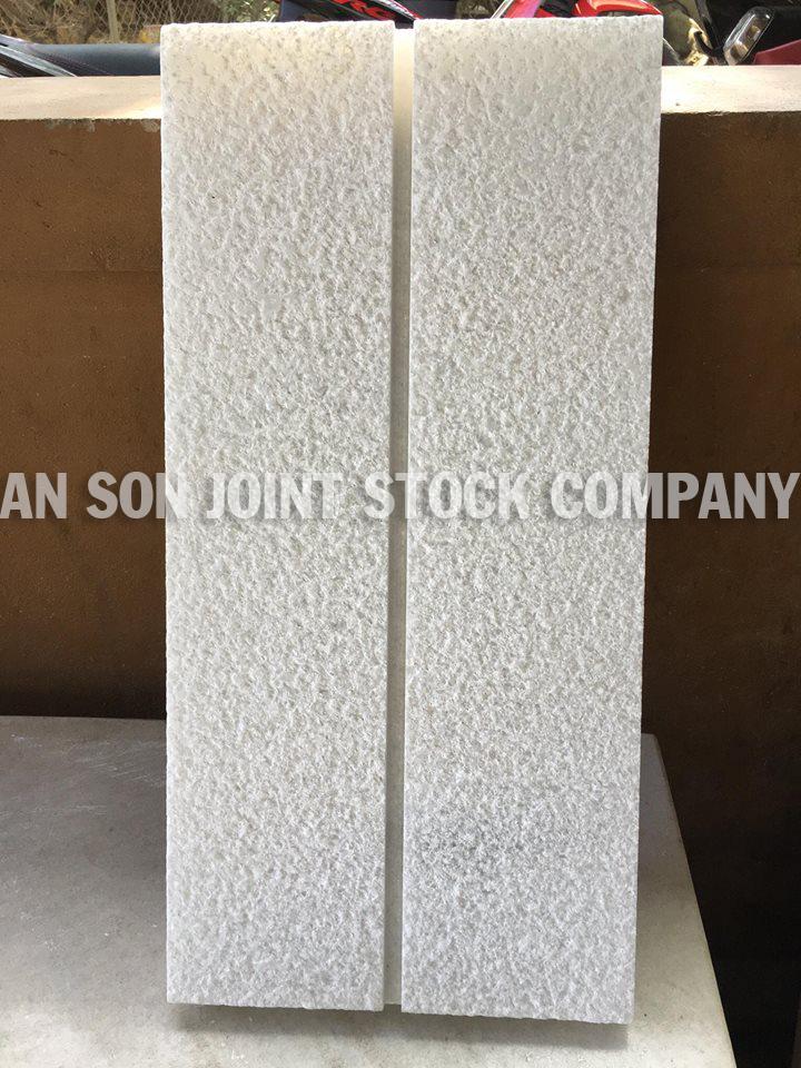 Viet Nam White Marble bushhammered