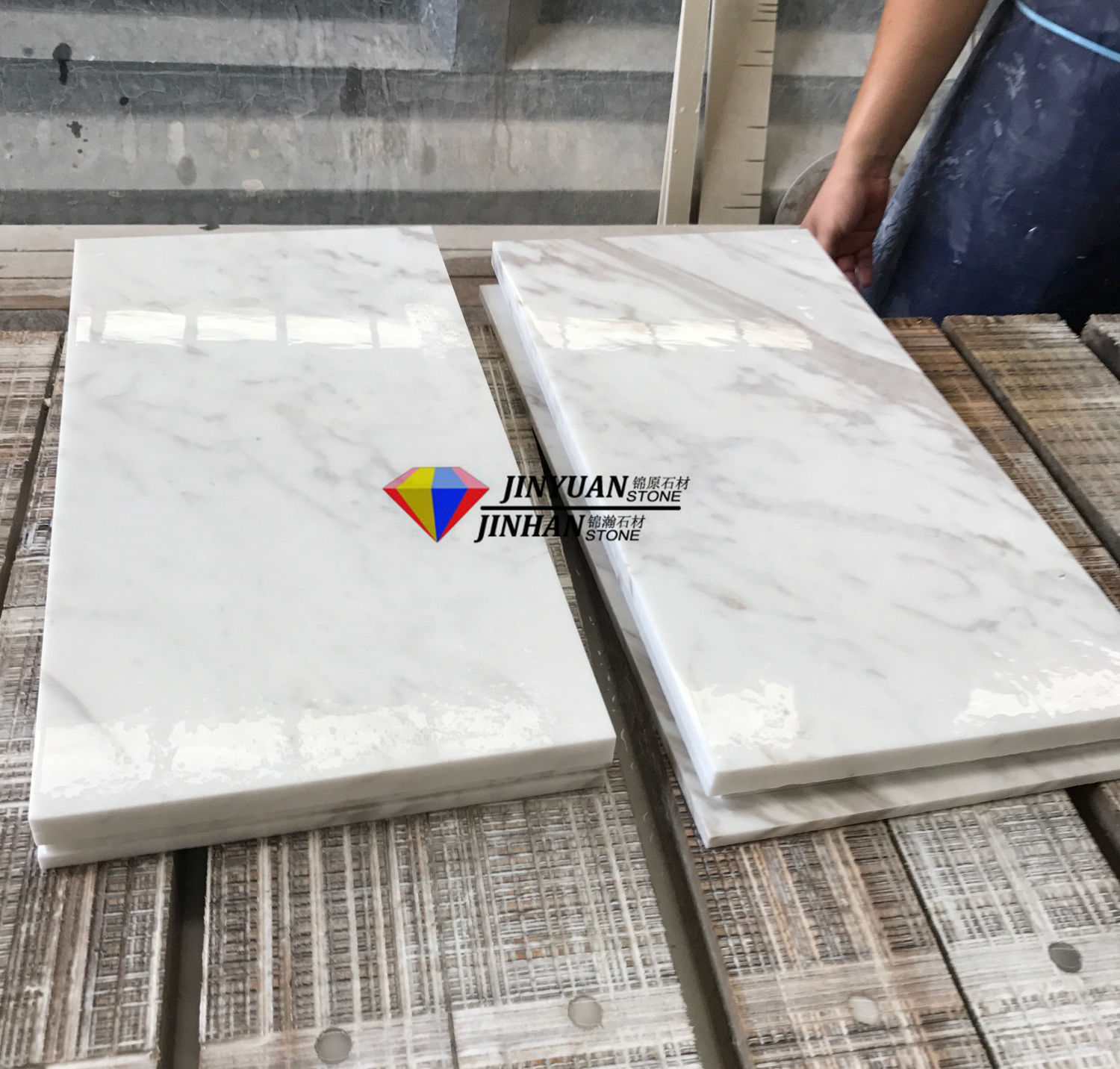Volakas White Marble Tiles for Floor and Wall Covering