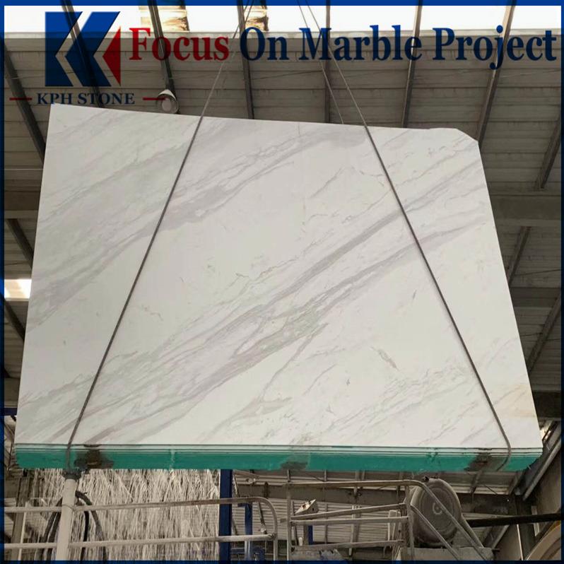 Volakas white marble slab floor tiles