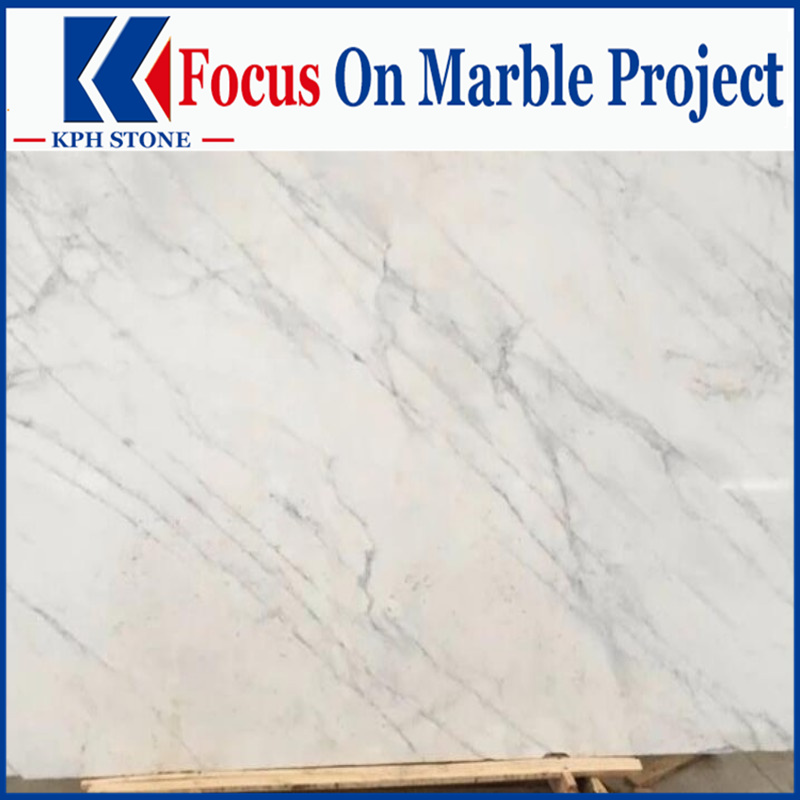 Volakas White Marble slabs for Kempinski Hotel decorative