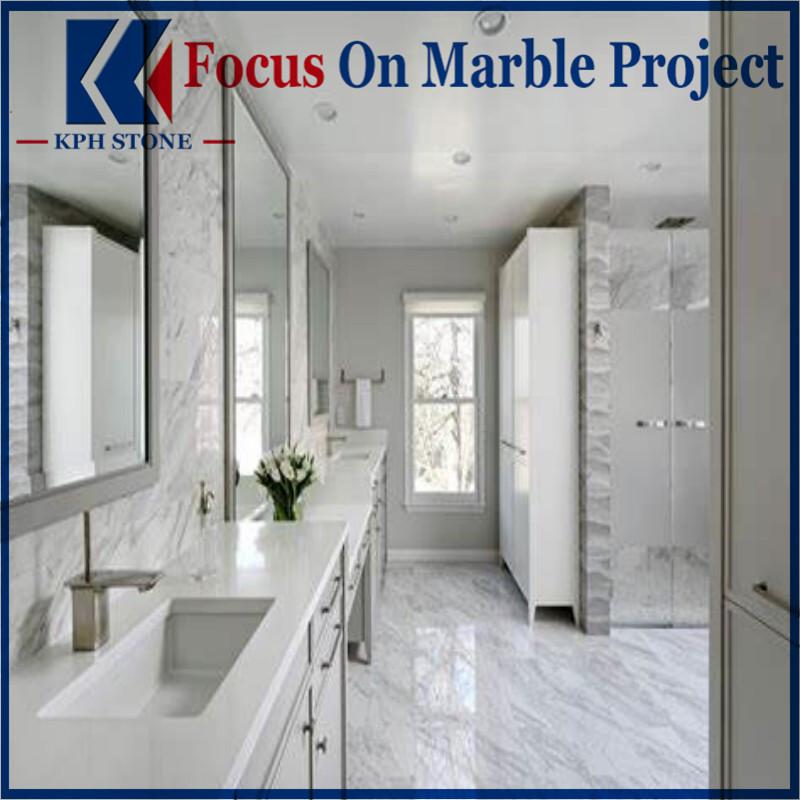 Volakas Jazz White Marble Bathroom Vanitytop