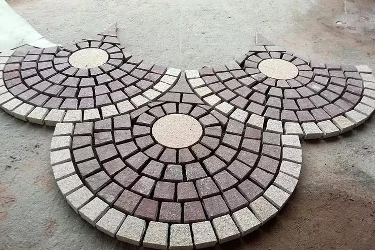 wholesale 10x10 natural black granite paving stone