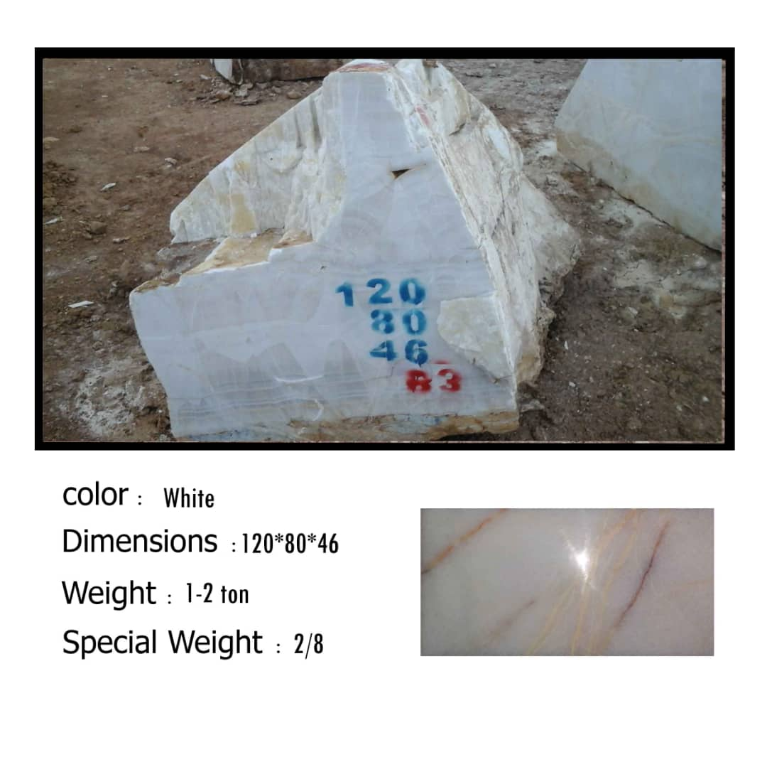 Onyx Blocks White Stone Blocks from Iran
