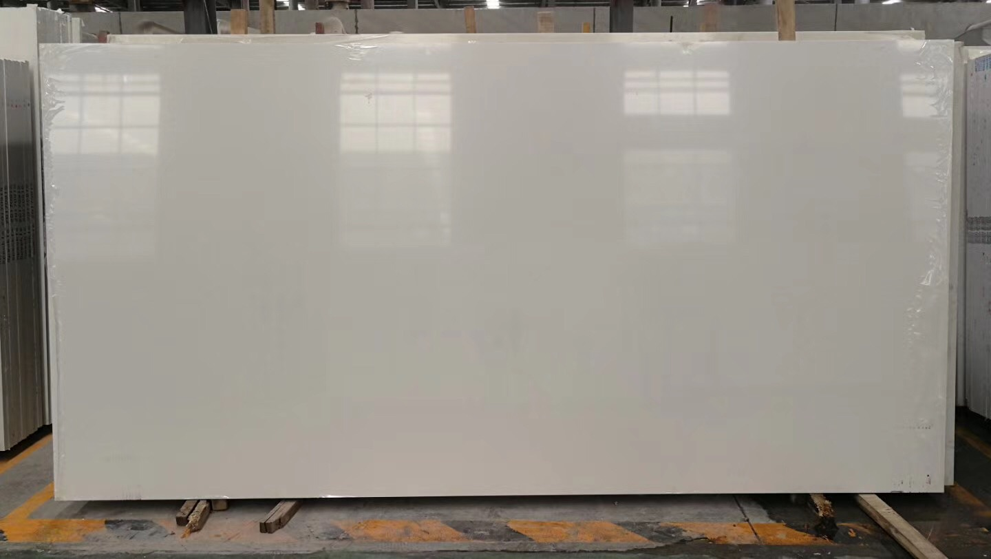 Super pure white quartz stone slabs