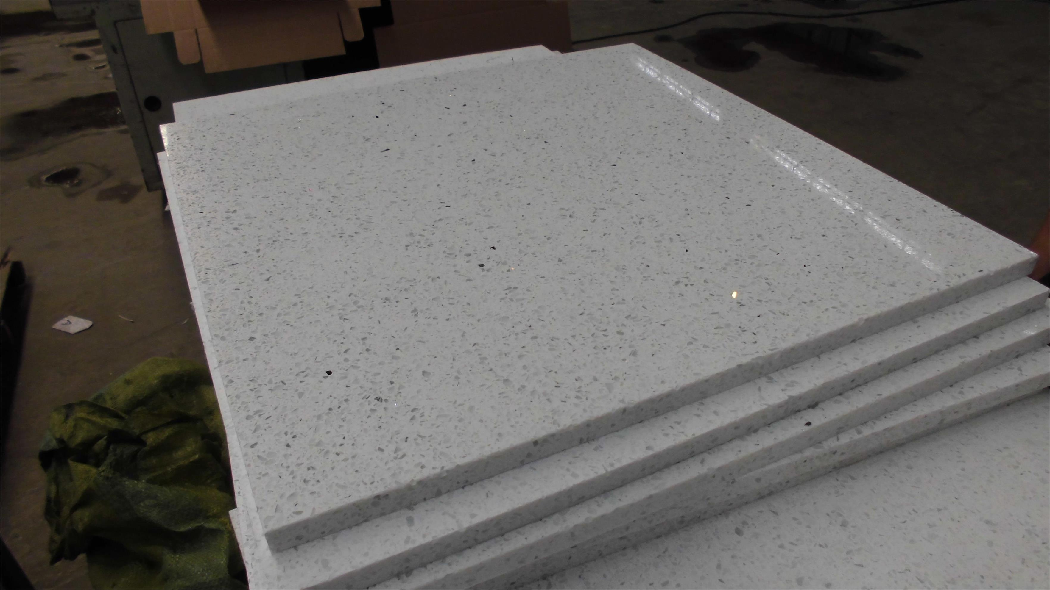 White Starlight Quartz Tiles
