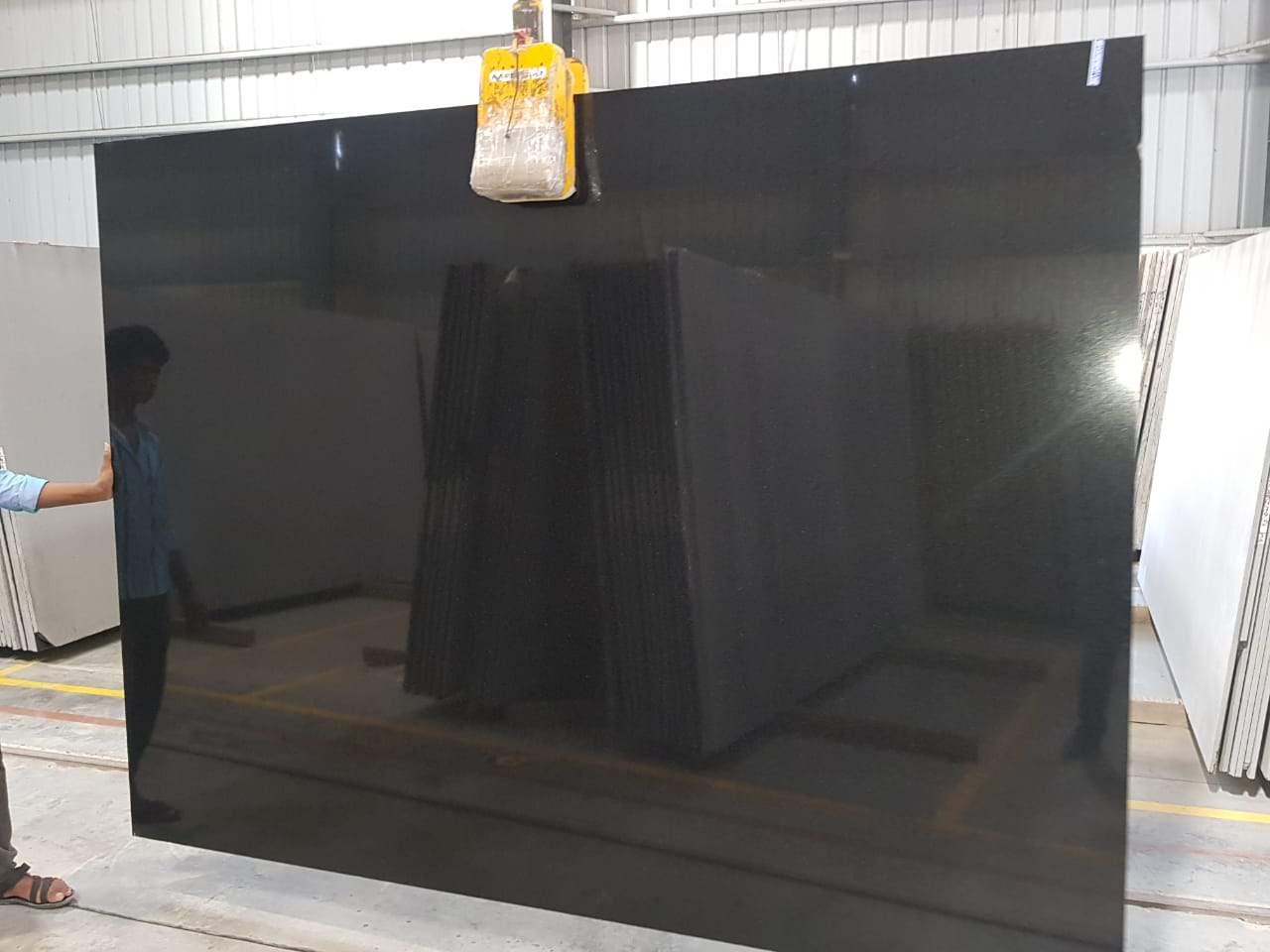 Absolute Black Polished Granite Slabs