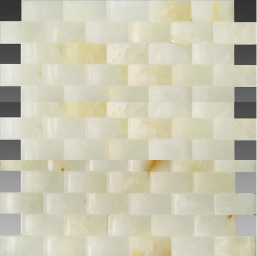 3D white onyx wave series mosaic