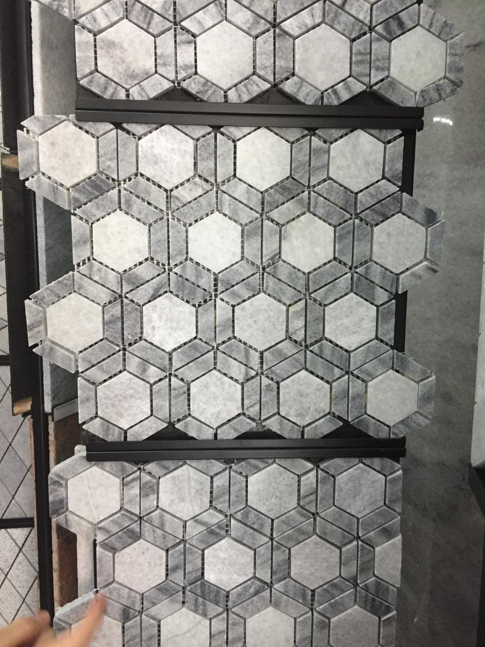 Bali White Marble Mosaic Stone Tile