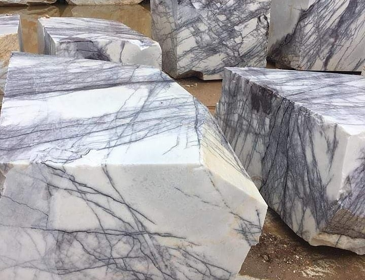 Lilac White MArble Blocks
