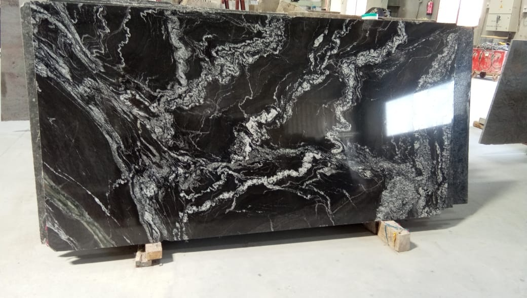 Marquino Black Granite Slabs