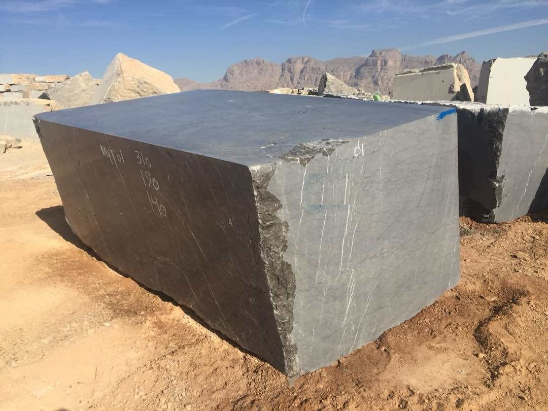 Pietra Grey Iranian Natural Marble Blocks