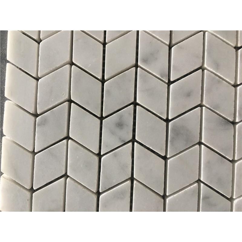 Mosaic Bianco Cararra White Marble
