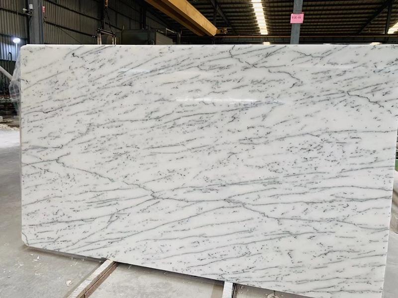 White Crystal Snow Flake Marble Slabs White Marble Slabs with Black Veins