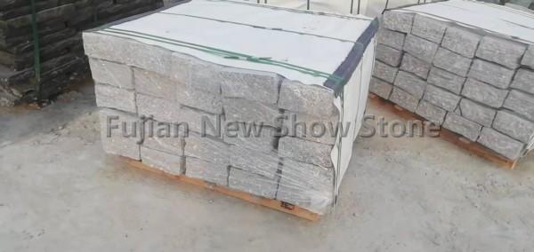 White grey granite kerbstones