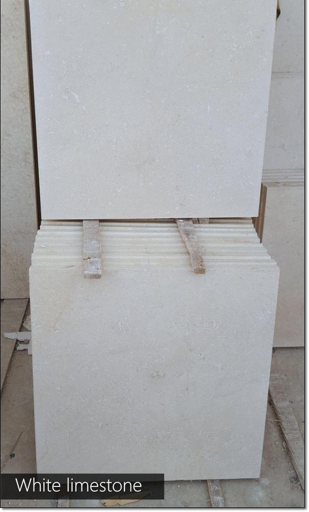 Pakistan Limestone Tiles Honed White Limestone Tiles