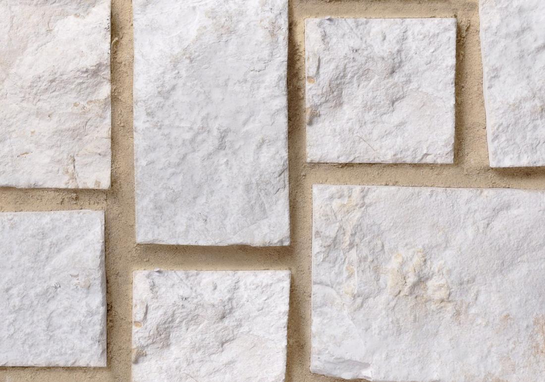 White limestone saw cut