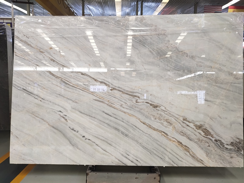 River White Marble Slabs White Marble with Veins