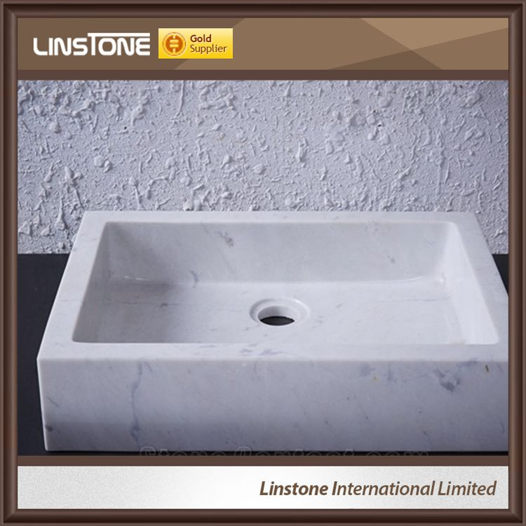 White Marble Wash Bathroom Basin
