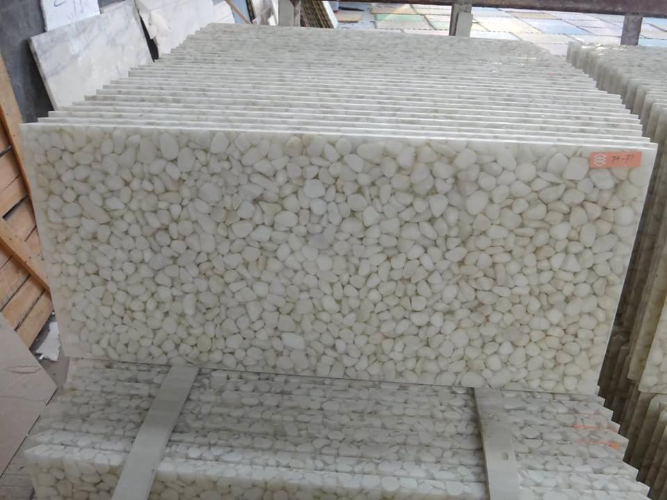 Pure white pebble stone cultured stone