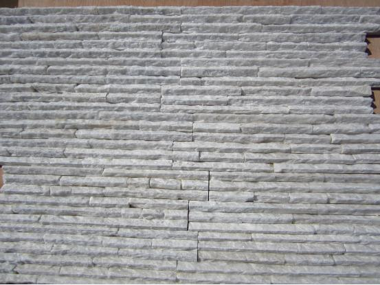 White Quartzite Cleft Pull Culture Stone