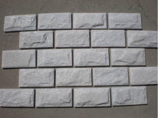 White Quartzite Mushroom Tile