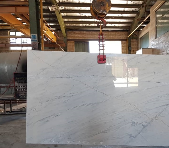 White Marble Iranian-Polished White Slabs