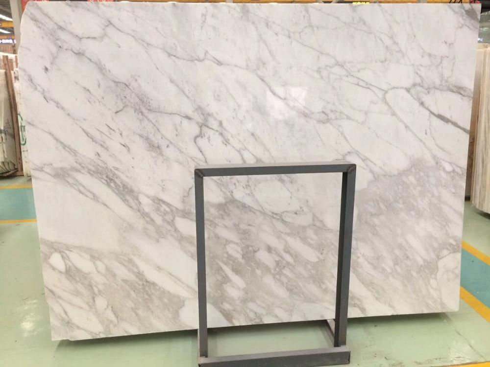Italian Statuario White Marble Slab