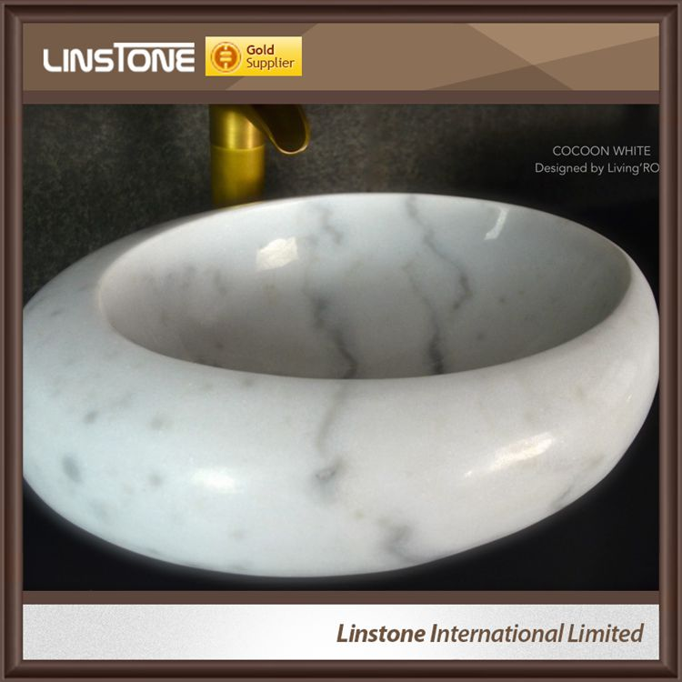 cheap White marble bathroom sink
