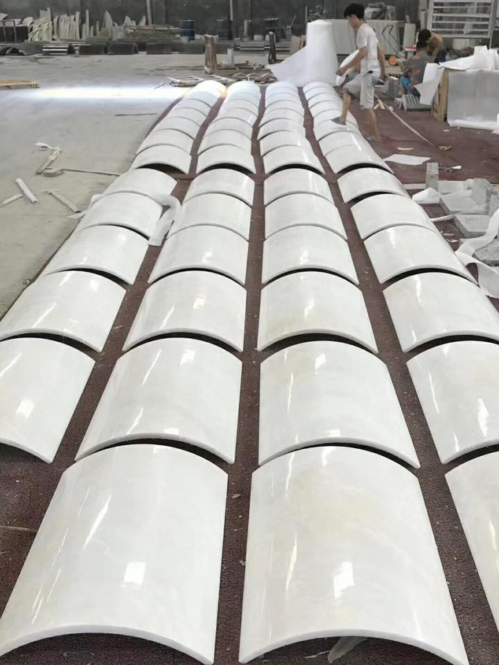 pure white onyx column panel