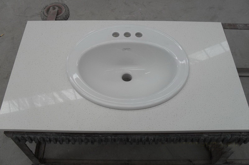 White Quartz Vanity Top Quartzite