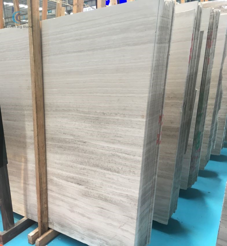 White wood Chinese marble big slab